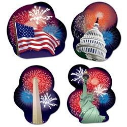 Patriotic cutouts
