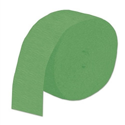 Green Flame Retardant Crepe Streamer, 85 ft