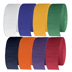 "Flame Retardant Crepe Streamer 1 3/4"" X 500' (Select Color)"