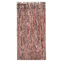 This easily hung Gleam 'N Curtain in Rose Gold, is easy to hang, and requires no assembly.  An easy way to add a beautiful shine and shimmer to your venue.  Rose Gold is THE It color, add this stylish trend to your party decor with ease with this curtain in Rose Gold.
