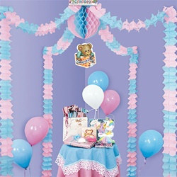 Pink and Blue Baby Shower Party Canopy