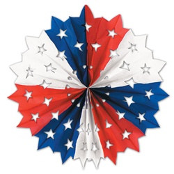 Red, White, and Blue Star Fan 22 in