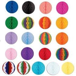 12 inch Art-Tissue Ball  - available in a wide variety of colors and color combinations.