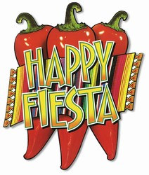 Your party will be hot,hot, hot with this Happy Fiesta Cutout