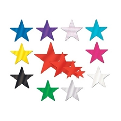 Solid Color Foil Star - add some twinkle to your next party.