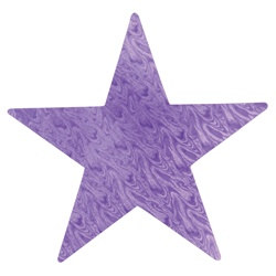 Purple Embossed Foil Star