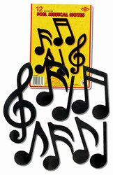 foil musical note cutouts