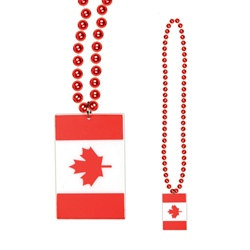 Canadian Flag Beads (1/pkg)