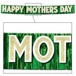 metallic happy mothers day banner