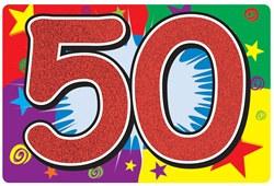 50 sign cutout