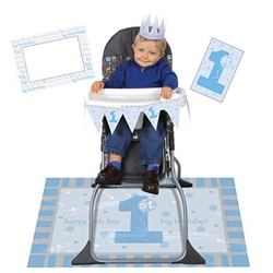 1st Birthday High Chair Decorating Kit - Blue