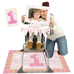 1st Birthday High Chair Decorating Kit - Pink