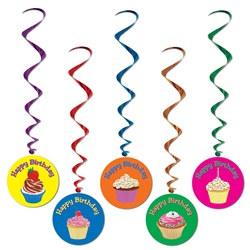 cupcake happy birthday whirls