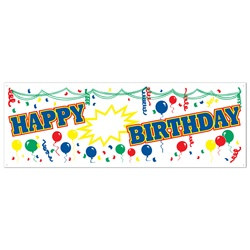all weather happy birthday sign banner