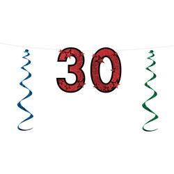 30th glitter streamer