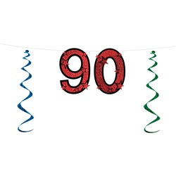 90th glittered streamer