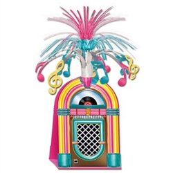 Get your party rocking with our colorful, fun Jukebox Centerpiece