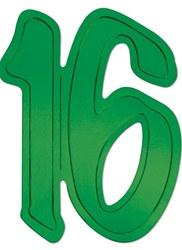 16 foil silhouettes