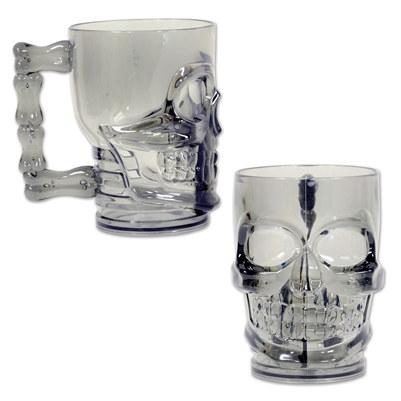 plastic skull mug