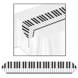 Printed Piano Keyboard Table Runner - hit just the right note at your next music themed party.