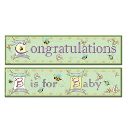 B Is For Baby Banners (2/pkg)