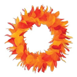 golden yellow, orange and red wreath 12 inch