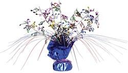 multicolor musical note gleam n spray centerpiece