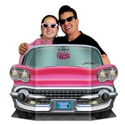 Pink Convertible Photo Prop