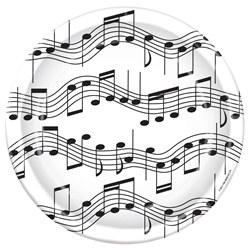 music note lunch plates