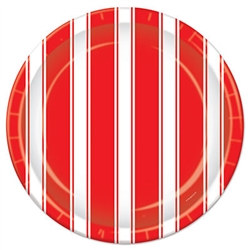 red and white stripes luncheon napkins