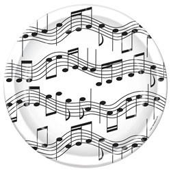 musical note dessert plates