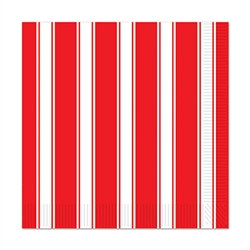 red and whte stripes luncheon napkins