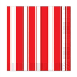 rd and white stripes beverage napkins