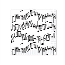 Musical Notes Beverage Napkins (16/pkg)