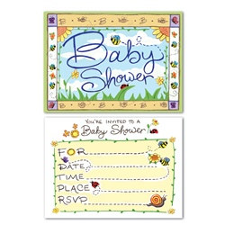 B Is For Baby Invitations (8/pkg)