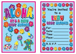 Hula Baby Invitations