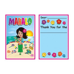 Hula Baby Thank You Notes