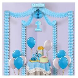 1st Birthday Party Canopy-Blue
