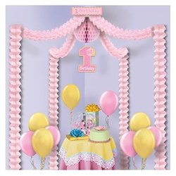 1st Birthday Party Canopy-Pink