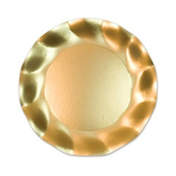 Satin Gold Large Plates (10/pkg)