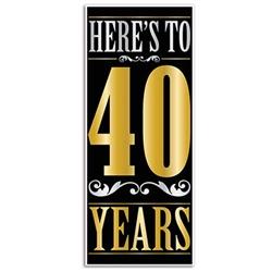 """here's to """"40"""" years door cover"""