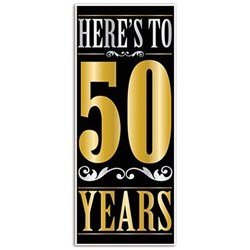 "heres to "" 50"" years door cover"