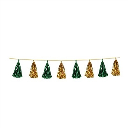 metallic garland - green & gold