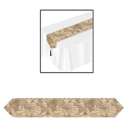 Printed Around The World Table Runner