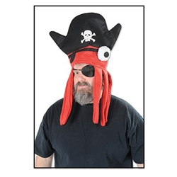 Felt Pirate Squid Hat