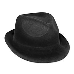 Black Velour Chairman Hat