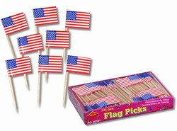 U.S. Flag Picks (144/box)