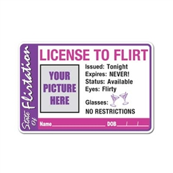 License To Flirt Button