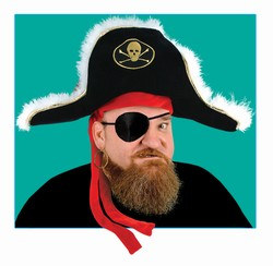 Pirate Captains Hat Adult