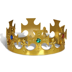 P;astic Jeweled Kings Crown Gold